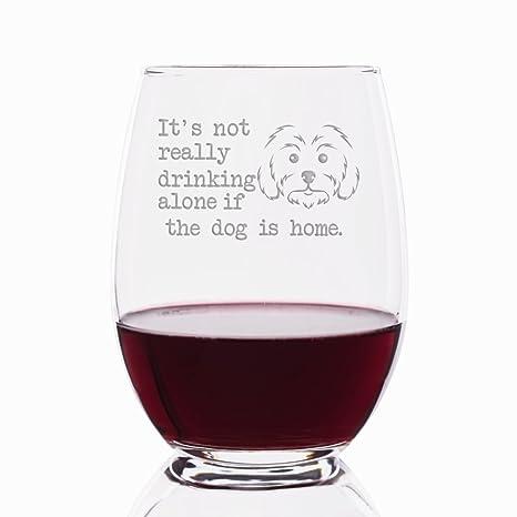 No es realmente beber sola si el perro es Home Malta grabado 6 vasos de 21
