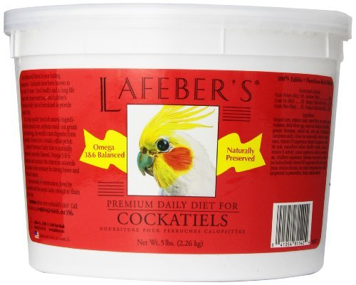 - Lafeber's Premium Daily Diet Pellets for Cockatiels, 5-Pound Bucket by Lafeber