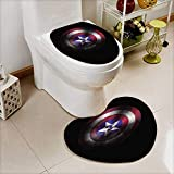 Lid Toilet Cover Shield of Captain America Marvel cine ographic Universe Machine-Washable W18 x H24 / W14 x H16