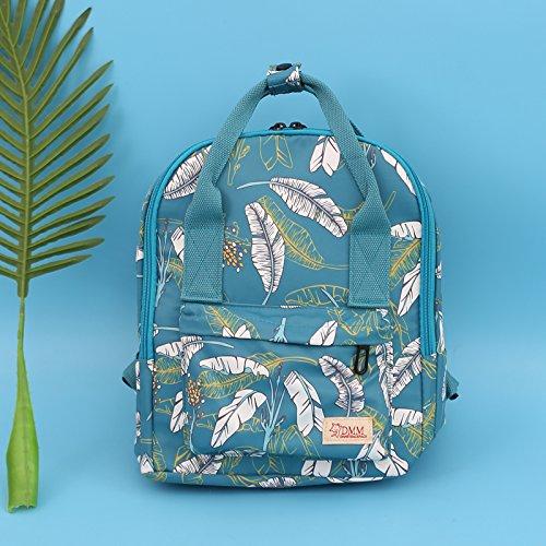 Todos-match cute adorable pequeño bolso impermeable mochila pequeña impresión alumnas fresco en el campus pintura de tinta Feather