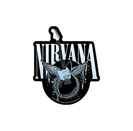 Nirvana rock band music bumper sticker decal by superheroes brand