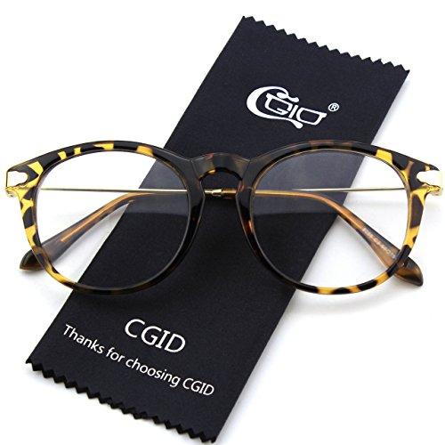 CN88 Mujer Claro Anteojos Tortoise Retro CGID Gafas y Hombre Para Lente UHxTqw4qZ