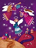 Caroline's Treasures APH7082GF Christmas Angels in Purple Garden Flag, Small, Multicolor For Sale