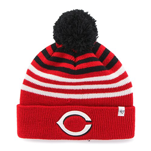 - '47 MLB Cincinnati Reds Youth Yipes Cuff Knit with Pom, One Size, Red