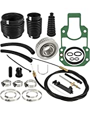 Transom Bellows Repair Reseal Kit & Lower Shift Cable For Mercruiser R, MR, Alpha I Gen I 1983-1990 sterndrives Replaces 30-803097T1, 865436A02