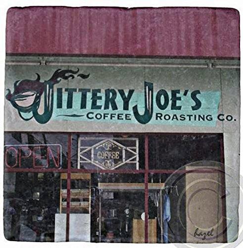 Jittery Joe's Athens, Georgia, UGA. Marble Stone Coaster. Mix and Match To Make A Set.