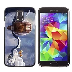 CaseCaptain Carcasa Funda Case - Samsung Galaxy S5 V SM-G900 / Cute Birds & Owl /