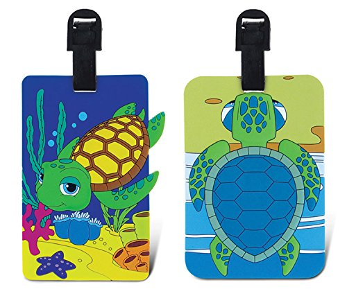 Diving Luggage Tag (PUZZLED TAGGAGE! SEA TURTLE AND DIVING SEA TURTLE LUGGAGE TAG 3.5X5 INCH)