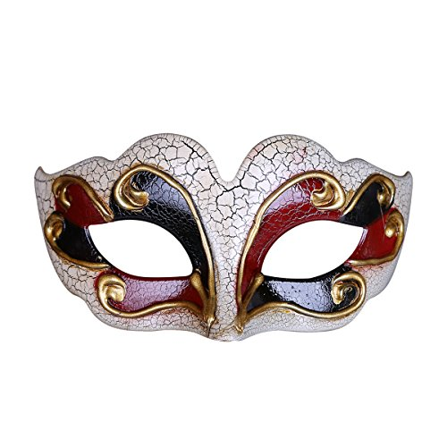 Cracked Venetian Masks Roman Halloween Masquerade Mask Costume Fancy Dress Ball Decoration Party Supplies Mask For Mens And -