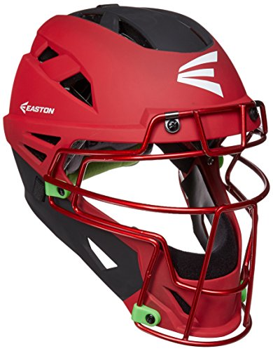 Easton Mako II Catcher's Helmet, Red/Black, Small