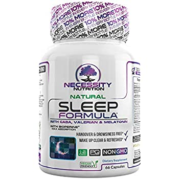 Natural Sleep Aid Supplement Non Habit Forming Sleeping Pills Valerian Root Extract GABA Melatonin 5 mg L Theanine Magnesium Promotes Relaxation Healthy ...