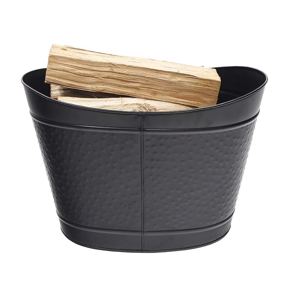 Minuteman International BIN-01BK Log Basket, Black