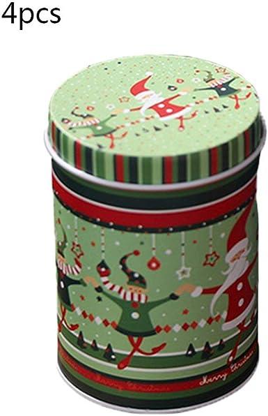 4 piezas Caja de dulces Decoraciones navideñas Almacenamiento Caja ...