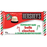 HERSHEY'S Peppermint Bark Bells, Christmas Chocolate Candy, Stocking Stuffer, 161-Gram