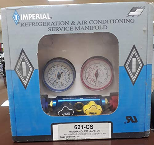 (Imperial Eastman 621CS 4-Valve Manifold with Sight Glass & 60 in. Hoses)