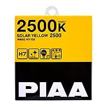 PIAA 22-13407 Solar Yellow H7 Light Bulb (2500K - 12V 55W), 2 Pack
