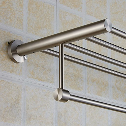 New Arrival Luxury Bathroom Accessories Stainless Steel Bath Towel Shelves Towel Rack Towel Bar Bath Hardware by Shelves store (Image #3)