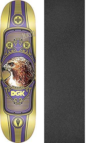 母性その間隔離DGK スケートボード Dane Vaughn Royal Legion スケートボードデッキ - 7.8インチ x 32インチ ブラックマジックグリップテープ付き - 2アイテムセット