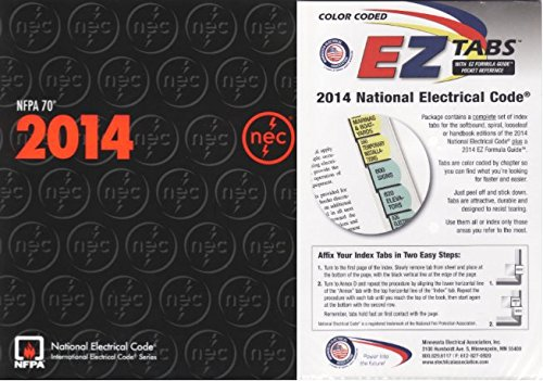 NFPA 70 : National Electrical Code (NEC), Paperback, 2014, with Color Coded EZ Tabs by NFPA-MEA