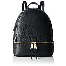 MICHAEL Michael Kors Rhea Zip Small Backpack Black/Gold