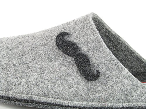 Pantofole da Uomo Invernali Tinta Unita Antracite