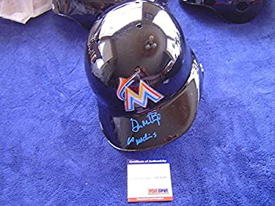 Miami Marlins Don Mattingly Autographed Signed Inscribed Rawlings Full Batting Helmet Psa