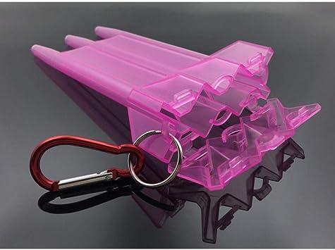 HPPL7 Colors 1 Set Dart Box Estuche de Dardos de plástico para Jugador Profesional de Dardos Cubierta Negra Accesorios de Dardos Blancos 2791, Rosa: Amazon.es: Deportes y aire libre