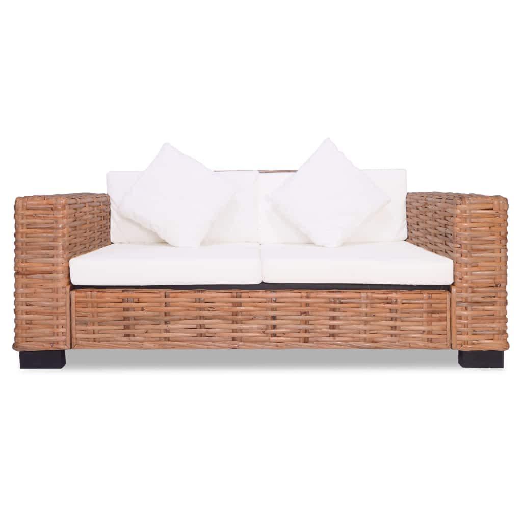 Tuduo 15 Piezas Set Sofa en Ratán Natural Elegante, cómodo y ...