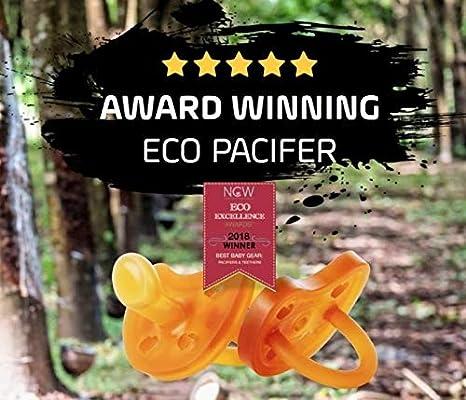 EcoViking Chupete de caucho natural, adecuado para la ...