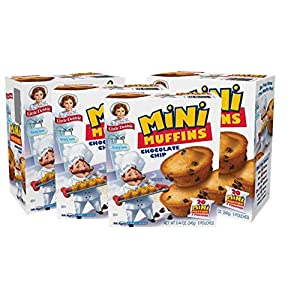 Little Debbie Chocolate Chip Mini Muffins, 4 Boxes, 20 Travel Size Pouches