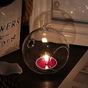 Sweet colgante bola de cristal candelabro soporte planta terrario Craft bolas para decoración del hogar 6unidades