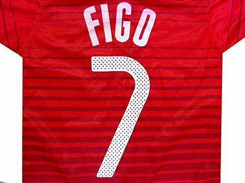 詳細に防水一掃する?代引可?子供用 K013 ポルトガルHOME FIGO*7 フィーゴ 赤紫 17 ゲームシャツ パンツ付