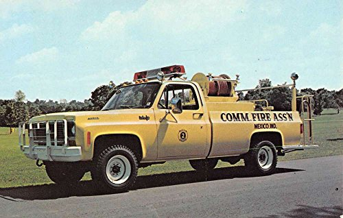 Mexico Indiana Boyer Brush Truck Fire Engine Vintage Postcard K89093 ()
