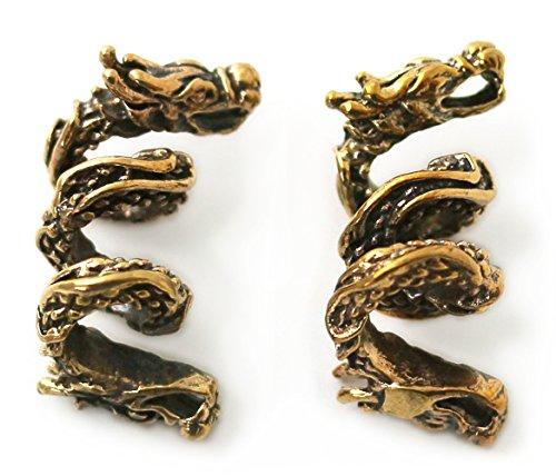 Bronze Norse Viking Dragon Beard Beads Rings, Dwarven Dreadlock Pirate Medieval Hair Beads, Pagan Jewelry by LynnAround (Image #6)