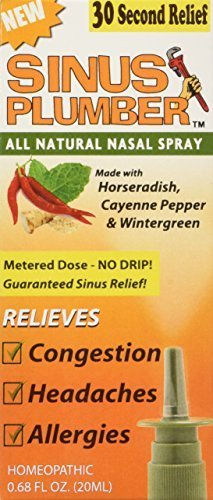 Sinus Plumber Horseradish and Pepper Nasal Spray - Natural Allergy Relief by Sinus Plumber
