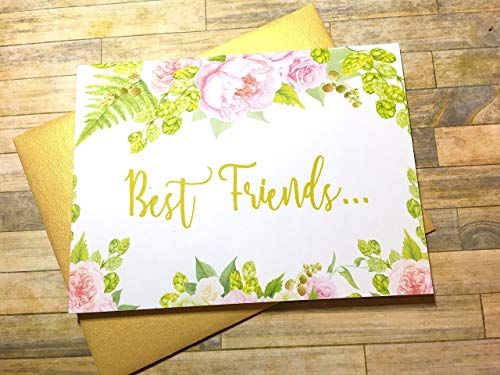 Pregnancy Reveal to Best Friend New Auntie Card Announcement
