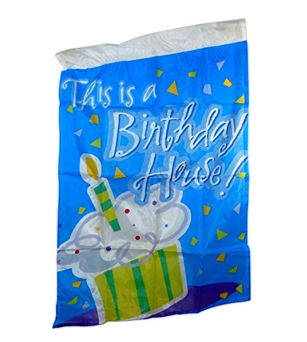 "Price comparison product image Birthday House Party Flag - 28"" x 40"" Nylon Banner For Yard, American Greetings."