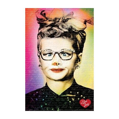 Buyartforless I Love Lucy Text Lucille Ball 36x24 Art Print Posterr Comedian Funny Woman 1950-s Icon Hollywood Movie TV Star All of her Best Quotes