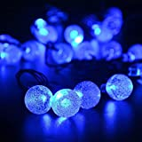LED SopoTek 20ft 30LED Waterproof Crystal Ball Solar String Lights /Solar Powered Globe Fairy String Bubble Ball Lights for Outdoor, Yard, Garden, Home,Garden, Path,Chrismas Decoration (30LED Blue)