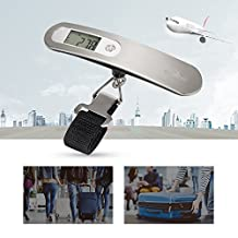 Luggage Scale, Kealive Digital Hanging Luggage Scale for Traveler, 0.02lb High-accuracy Reading, Auto-off, Unit Conversion, 110lb Max Weight Capacity, Battery Included