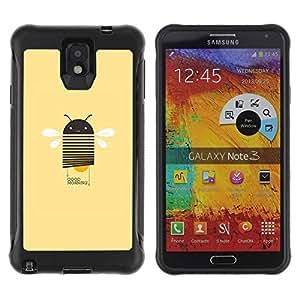 Híbridos estuche rígido plástico de protección con soporte para el SAMSUNG GALAXY NOTE 3 - wings yellow peach android