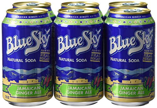 Blue Sky,Natural Jamaican Ginger Ale, 6 ct, 12 oz each