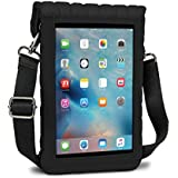 USA Gear iPad Mini 4 Case Protective Carry Cover (Black) Built-in Capacitive Touch Screen Protector & Adjustable Shoulder Carrying Strap – X T7 Travel Bag fits All iPad Mini Tablet Generations