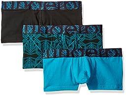 ROunderbum Men\'s Rem Lift Trunk 3 Pack, Multicolor Blue, Large