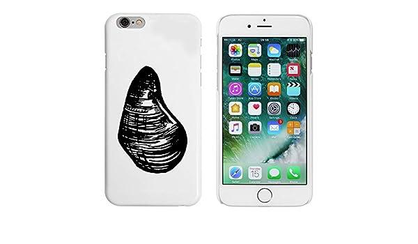 Azeeda Blanco Mejillón de Mar Funda para iPhone 6 y 6s ...