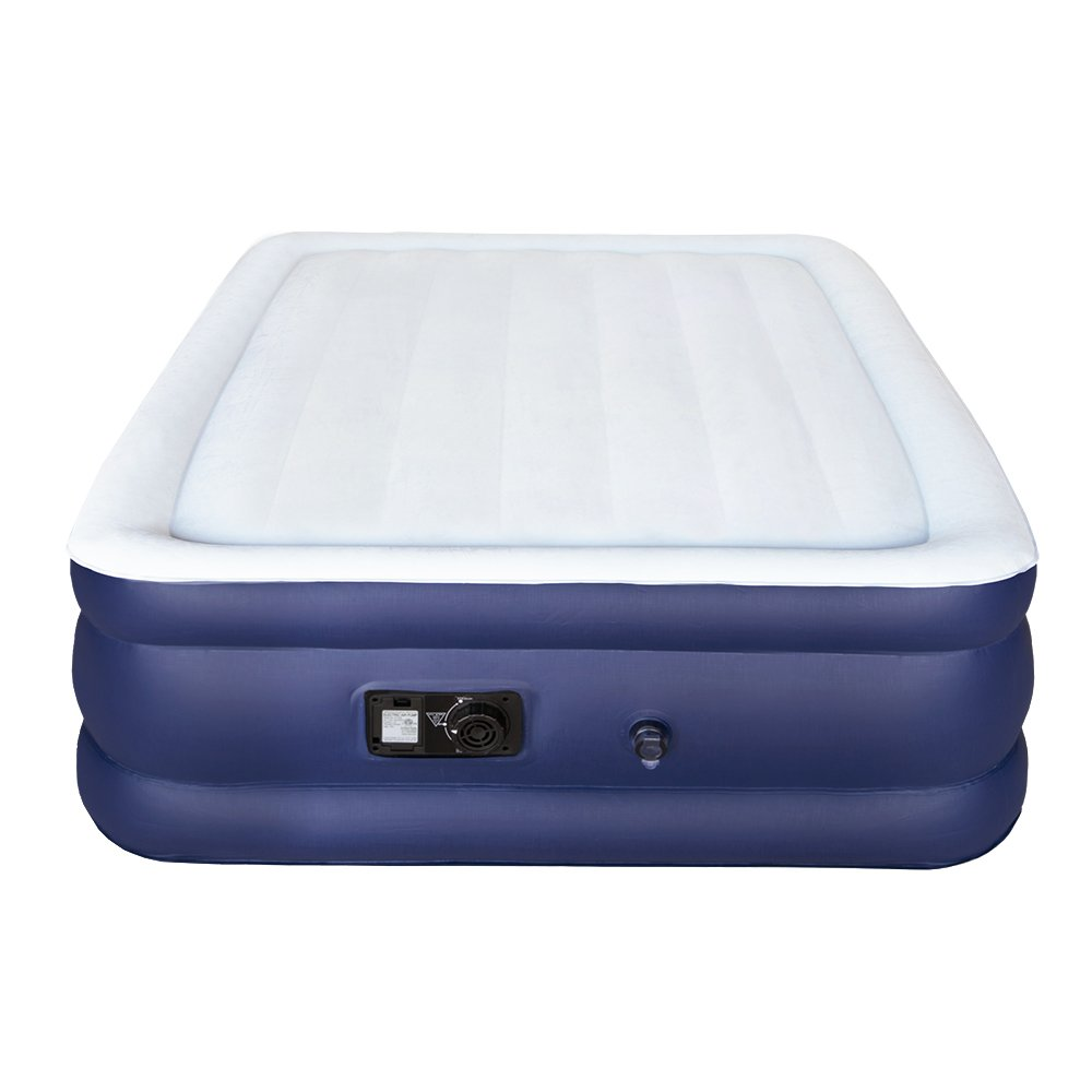 Sable Air Bed with Built-in Electric Pump, Raised Blow up Inflatable Air Mattress with Storage Bag , Height 18 Inches, Full Size SA-HF034