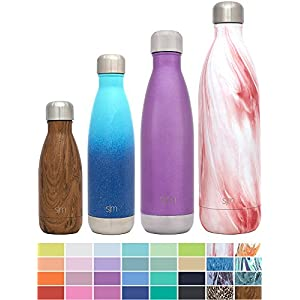Simple Modern 34oz Wave Water Bottle - Vacuum Insulated Double Wall 18/8 Stainless Steel 1 Liter Hydro Swell Flask - Concept Collection - Primrose Marble