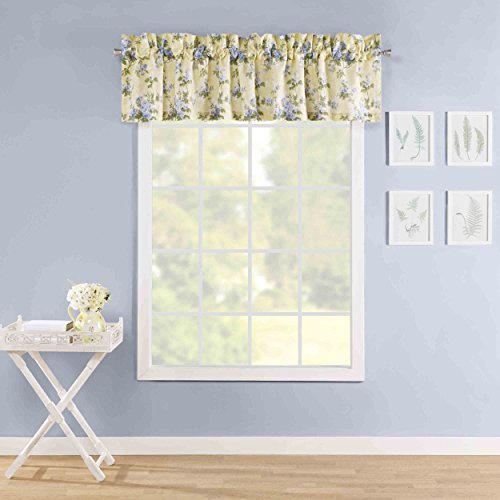 Laura Ashley Cassidy Window Valance, Pastel Yellow for sale  Delivered anywhere in USA