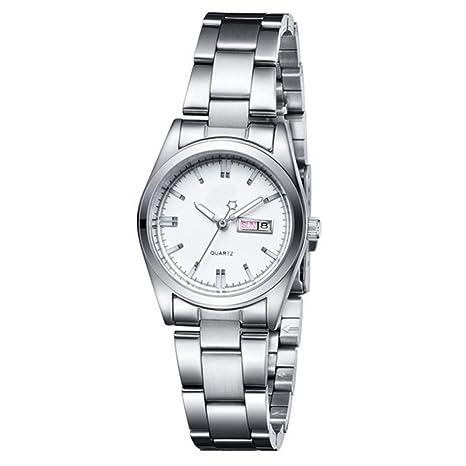 GAOY Watch Relojes Señora Reloj De Moda Impermeable Diamante Brillante Cuarzo Analógico Reloj De Acero Plateado