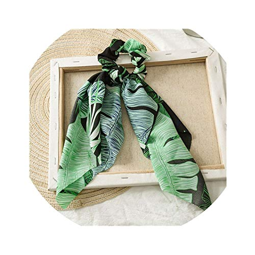 - Vintage Women Headwear Turban Bow Streamers Hair Hair Ties Horsetail Ties Head Wrap Hair Accessories,G5
